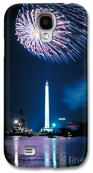 4th July Galaxy S4 Cases - San Jacinto Monument Galaxy S4 Case by Sam C Pierson Jr
