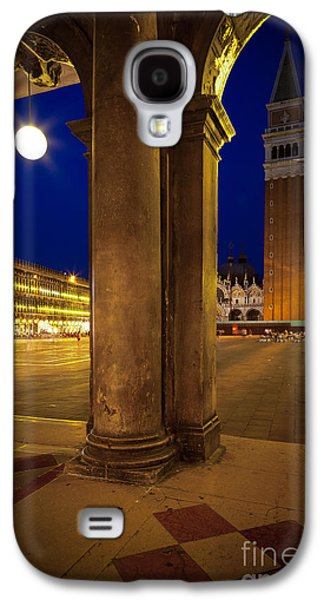 Beauty Mark Photographs Galaxy S4 Cases - San Marco at Night Galaxy S4 Case by Inge Johnsson