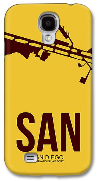 Town Mixed Media Galaxy S4 Cases - SAN San Diego Airport Poster 1 Galaxy S4 Case by Naxart Studio