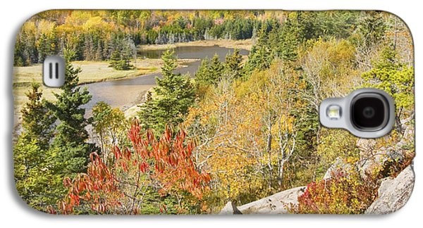 Ledge Galaxy S4 Cases - Sand Beach In Fall from Great Head Acadia National Park Photo Galaxy S4 Case by Keith Webber Jr