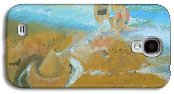 Sand Castles Paintings Galaxy S4 Cases - Sand Castle Galaxy S4 Case by Tonya Henderson