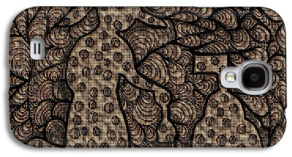 Abstract Collage Drawings Galaxy S4 Cases - Sand Castles Galaxy S4 Case by Victoria Fischer