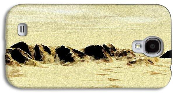 Landscape Digital Art Galaxy S4 Cases - Sand Desert Galaxy S4 Case by Anastasiya Malakhova