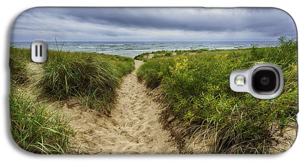 Weather Galaxy S4 Cases - Sand Dunes Beach Path Galaxy S4 Case by Sebastian Musial