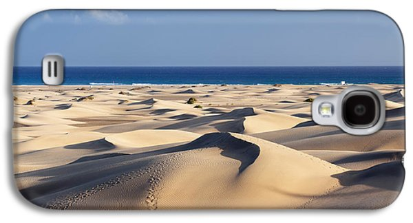 Sand Dunes In A Desert, Maspalomas Galaxy S4 Case by Panoramic Images