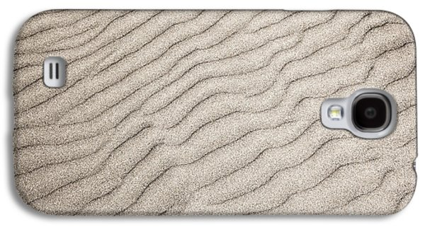Wavy Galaxy S4 Cases - Sand ripples natural abstract Galaxy S4 Case by Elena Elisseeva
