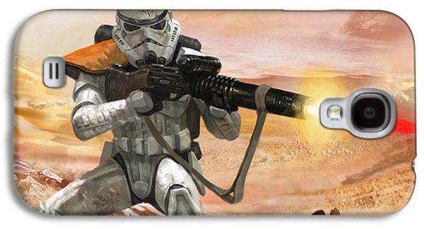 Storm Digital Art Galaxy S4 Cases - Sand Trooper - Star Wars the Card Game Galaxy S4 Case by Ryan Barger