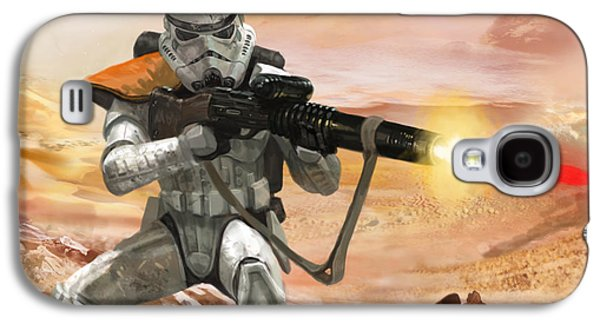 Storm Digital Galaxy S4 Cases - Sand Trooper - Star Wars the Card Game Galaxy S4 Case by Ryan Barger