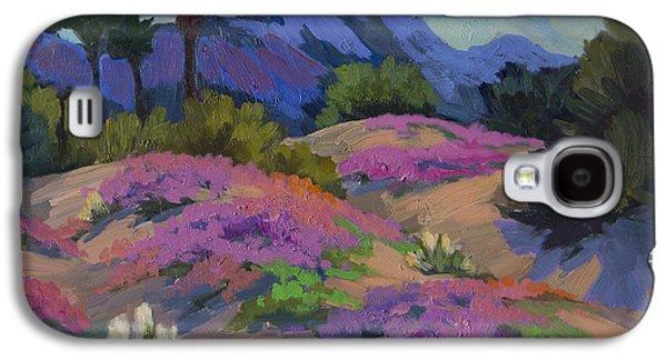 Plein Air Galaxy S4 Cases - Sand Verbena Back Lit Galaxy S4 Case by Diane McClary