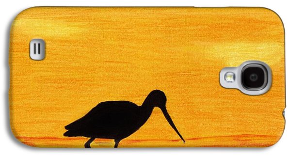 Skylines Pastels Galaxy S4 Cases - Sandpiper - Sunset Galaxy S4 Case by D Hackett