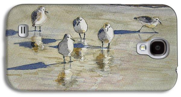 Seabirds Galaxy S4 Cases - Sandpipers 2 watercolor 5-13-12 julianne felton Galaxy S4 Case by Julianne Felton