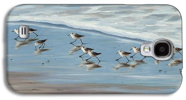 Sandpipers Galaxy S4 Case by Tina Obrien