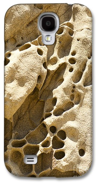 Holes In Sandstone Galaxy S4 Cases - Sandstone Rock Formation Two at Big Sur  Galaxy S4 Case by Artist and Photographer Laura Wrede