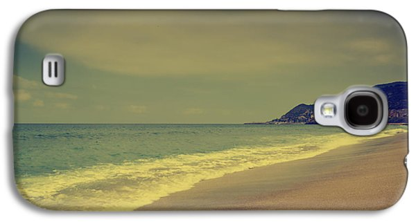 Sun Pyrography Galaxy S4 Cases - Sandy Beach Galaxy S4 Case by Jelena Jovanovic