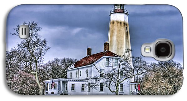 Base Path Galaxy S4 Cases - Sandy Hook Lighthouse Galaxy S4 Case by Geraldine Scull