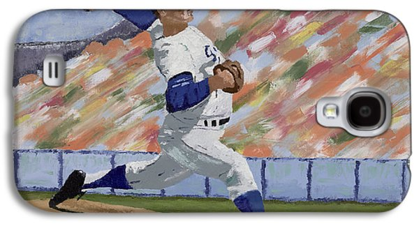 Baseball Stadiums Paintings Galaxy S4 Cases - Sandy Koufax Galaxy S4 Case by Ron Gibbs