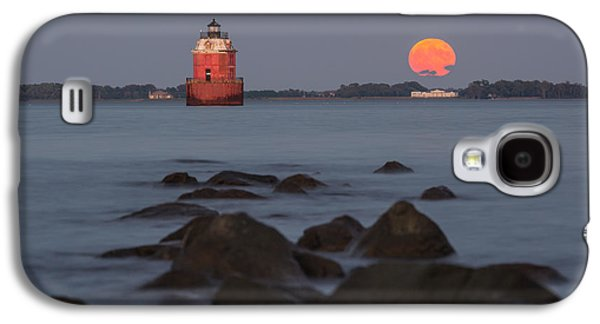 Moonrise Galaxy S4 Cases - Sandy Point Lighthouse Moonrise Galaxy S4 Case by Jennifer Casey