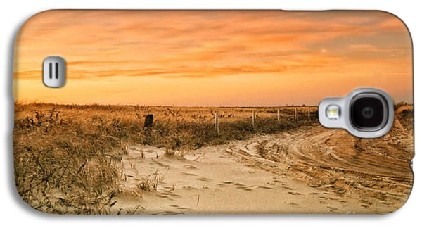 Landmarks Photographs Galaxy S4 Cases - Sandy Road Leading to the Beach Galaxy S4 Case by Sabine Jacobs