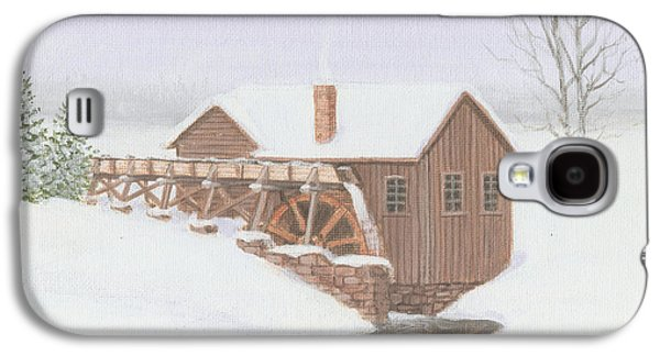 Grist Mill Paintings Galaxy S4 Cases - Sandy Spring Grist Mill Galaxy S4 Case by Mark Massie