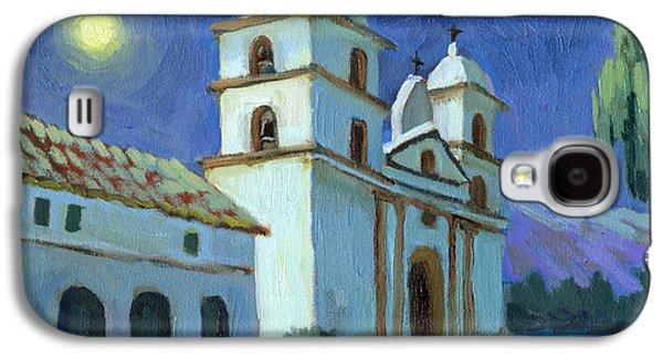 Santa Barbara Mission Moonlight Galaxy S4 Case by Diane McClary