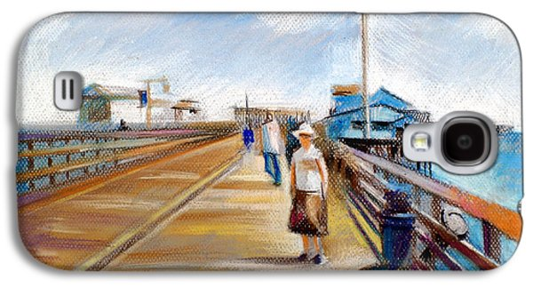 Beach Landscape Pastels Galaxy S4 Cases - Santa Barbara Pier Galaxy S4 Case by Filip Mihail