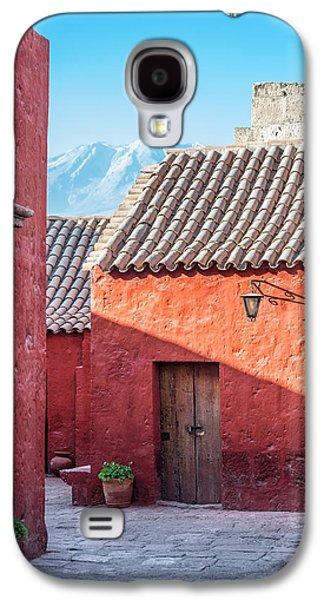 Catherine White Galaxy S4 Cases - Santa Catalina Monastery and Volcano Galaxy S4 Case by Jess Kraft