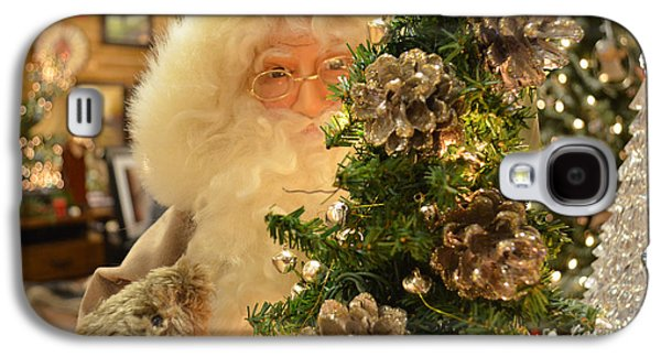 Elf Photographs Galaxy S4 Cases - Santa Claus Is Watching You Galaxy S4 Case by Luther   Fine Art