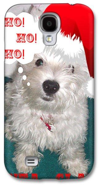Westie Digital Galaxy S4 Cases - Santa Claws Galaxy S4 Case by Charmaine Zoe