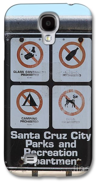 Santa Cruz Ca Galaxy S4 Cases - Santa Cruz Beach Sign At The Santa Cruz Beach Boardwalk California 5D23840 Galaxy S4 Case by Wingsdomain Art and Photography