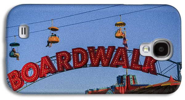 Rollercoaster Photographs Galaxy S4 Cases - Santa Cruz Boardwalk 1 Galaxy S4 Case by Scott Campbell