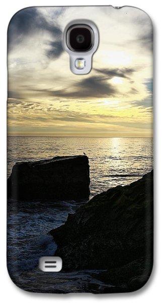 Steamer Lane Galaxy S4 Cases - Santa Cruz Sunset Galaxy S4 Case by Richard Cheski