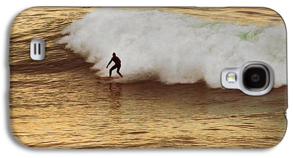 Surfer Magazine Galaxy S4 Cases - Santa Cruz Surfing at the Golden Hour Galaxy S4 Case by Artist and Photographer Laura Wrede