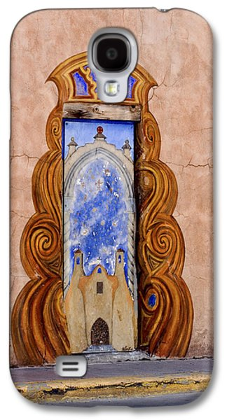 Mural Photographs Galaxy S4 Cases - Santa Fe Door Mural Galaxy S4 Case by Carol Leigh