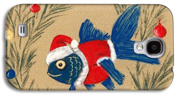 Happy Galaxy S4 Cases - Santa Fish Galaxy S4 Case by Anastasiya Malakhova