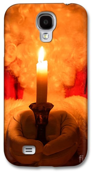 Nicholas Galaxy S4 Cases - Santa Holding Candle Galaxy S4 Case by Amanda And Christopher Elwell