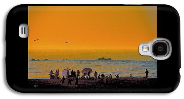 Dreamscape Galaxy S4 Cases - Santa Monica Beach Sunset Galaxy S4 Case by Ben and Raisa Gertsberg