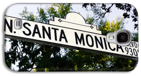Santa Monica Blvd Street Sign In Beverly Hills Galaxy S4 Case by Paul Velgos