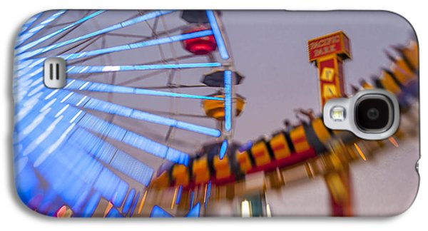 Rollercoaster Photographs Galaxy S4 Cases - Now I know it was a dream Santa Monica Ferris Wheel Galaxy S4 Case by Scott Campbell