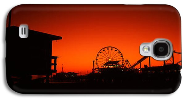 Rollercoaster Photographs Galaxy S4 Cases - Santa Monica Pier, Santa Monica Beach Galaxy S4 Case by Panoramic Images