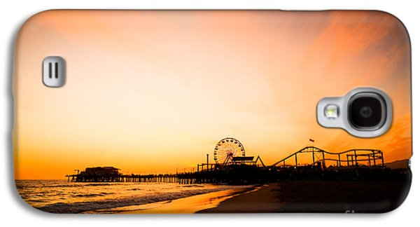 Santa Monica Pier Sunset Southern California Galaxy S4 Case by Paul Velgos