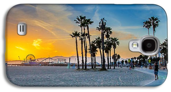 Dream Photographs Galaxy S4 Cases - Santa Monica Sunset Galaxy S4 Case by Az Jackson