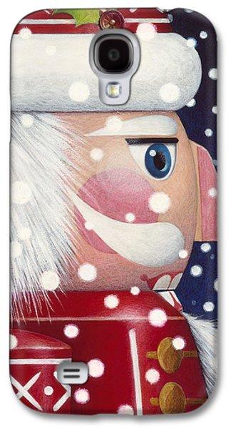 Santa Claus Paintings Galaxy S4 Cases - Santa Nutcracker Galaxy S4 Case by Lynn Bywaters