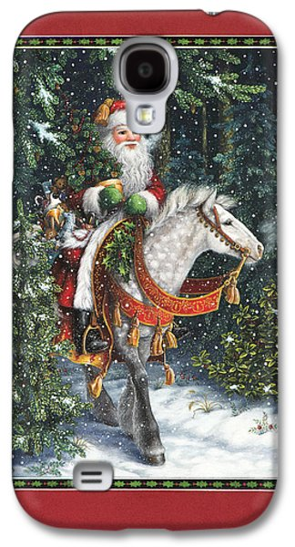 Santa Claus Paintings Galaxy S4 Cases - Santa of the Northern Forest Galaxy S4 Case by Lynn Bywaters
