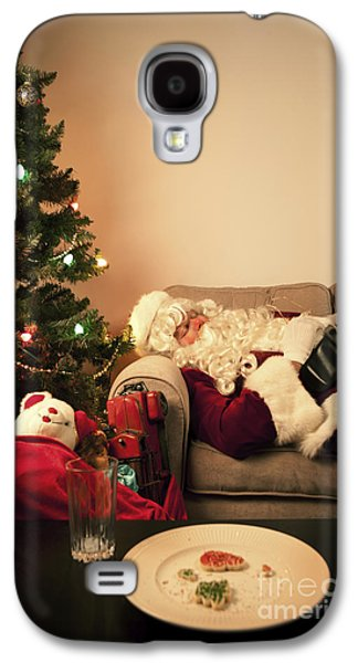 Christmas Eve Galaxy S4 Cases - Santa Takes a Nap Galaxy S4 Case by Diane Diederich