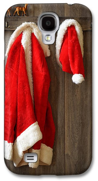 Ledge Galaxy S4 Cases - Santas Coat Galaxy S4 Case by Amanda And Christopher Elwell