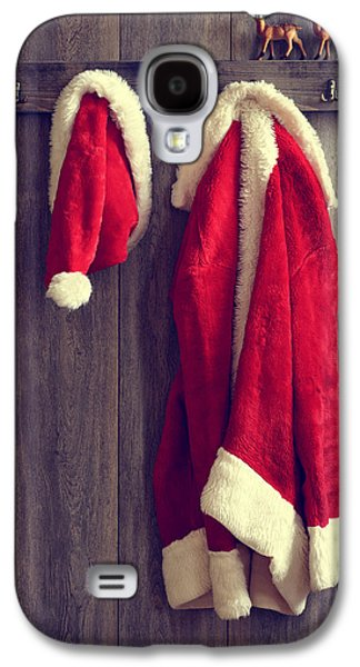 Ledge Galaxy S4 Cases - Santas Hat And Coat Galaxy S4 Case by Amanda And Christopher Elwell