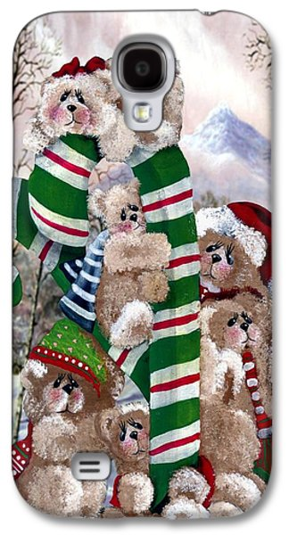 Cheer On Galaxy S4 Cases - Santas Little Helpers Galaxy S4 Case by Ronda and Ron Chambers
