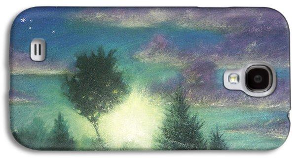 Skylines Pastels Galaxy S4 Cases - Santee Sunset 03 Galaxy S4 Case by Michael Heikkinen