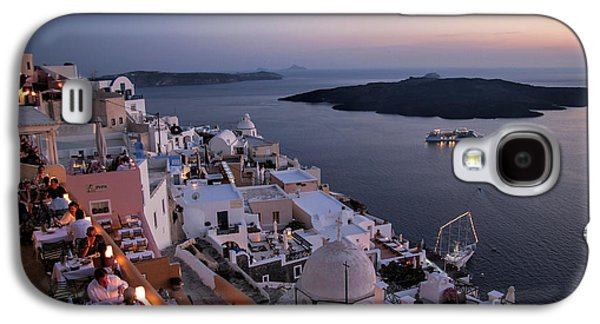 Interface Galaxy S4 Cases - Santorini at Dusk Galaxy S4 Case by David Smith