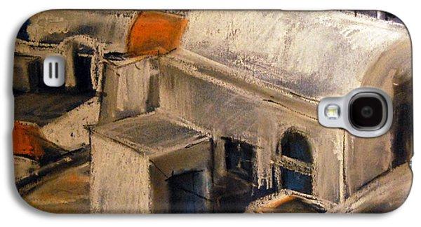 White Pastels Galaxy S4 Cases - Santorini Galaxy S4 Case by Mona Edulesco
